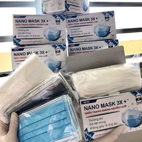 Khẩu trang kháng khuẩn 4 lớp - nano mask 3x+