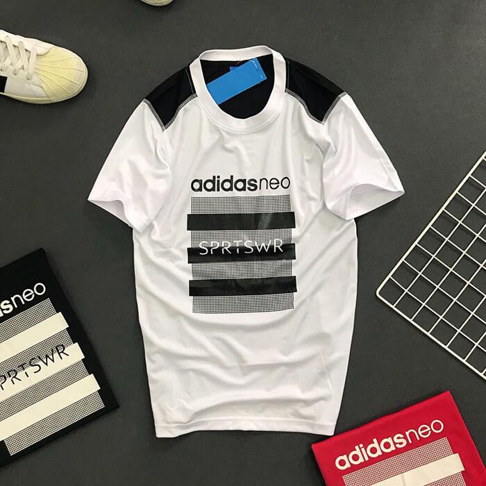 Áo thun nam Adidas NEO thể thao trắng