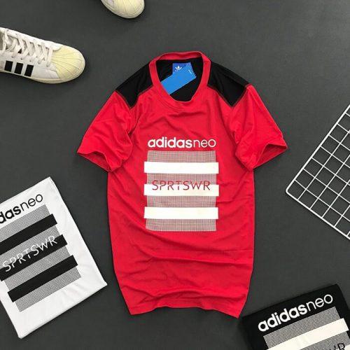 Áo thun nam Adidas NEO thể thao đỏ
