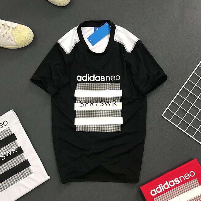 Áo thun nam Adidas NEO thể thao đen
