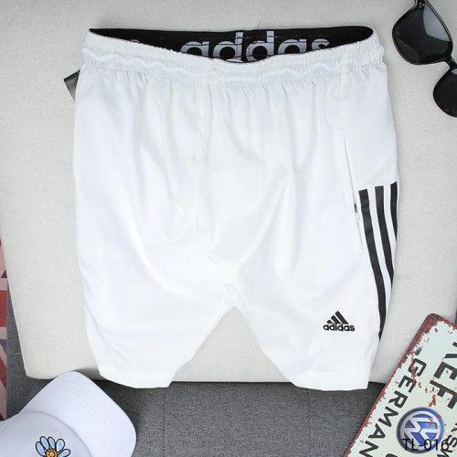 quần short nam ADIDAS trắng 3 sọc đen
