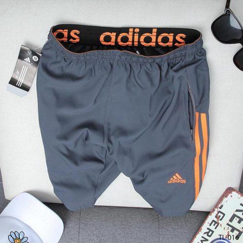 quần short nam ADIDAS xám 3 sọc cam