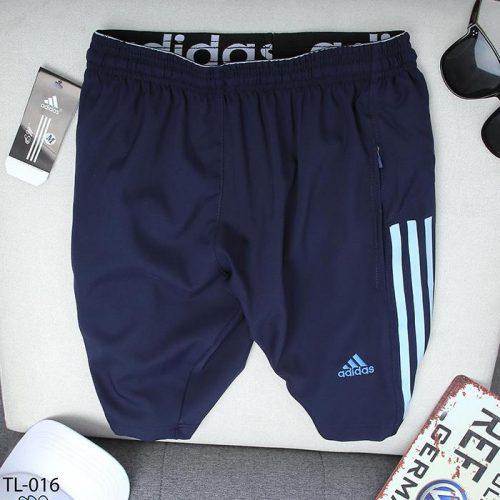quần short nam ADIDAS xanh đen 3 sọc xanh dương