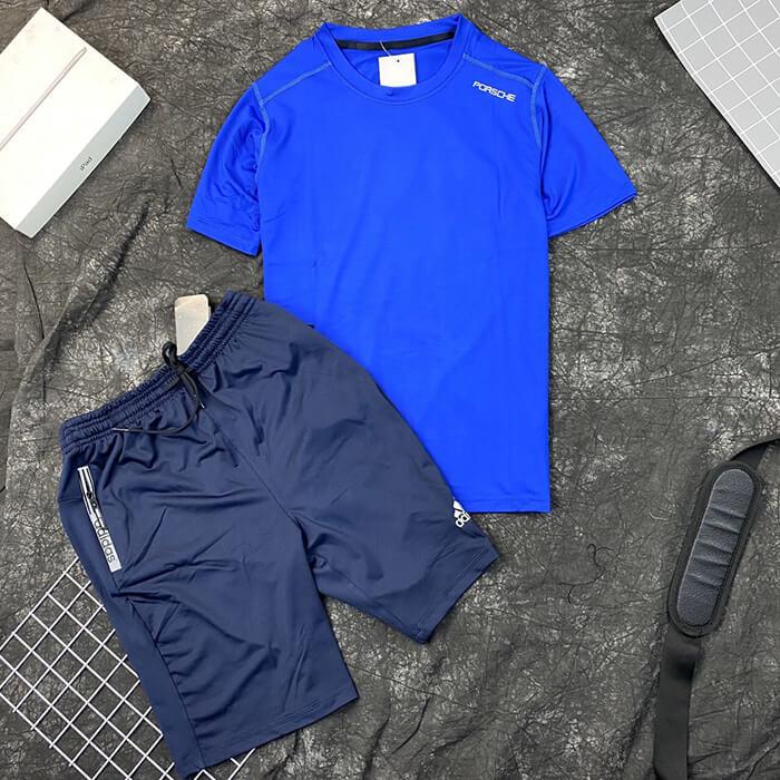 Set đồ bộ quần áo thun thể thao Porche quần Adidas nam