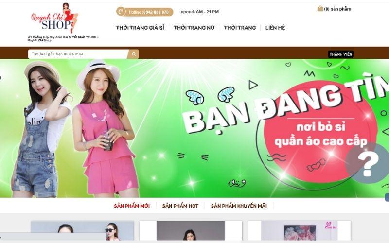 Váy đầm giá sỉ online Quỳnh Chi