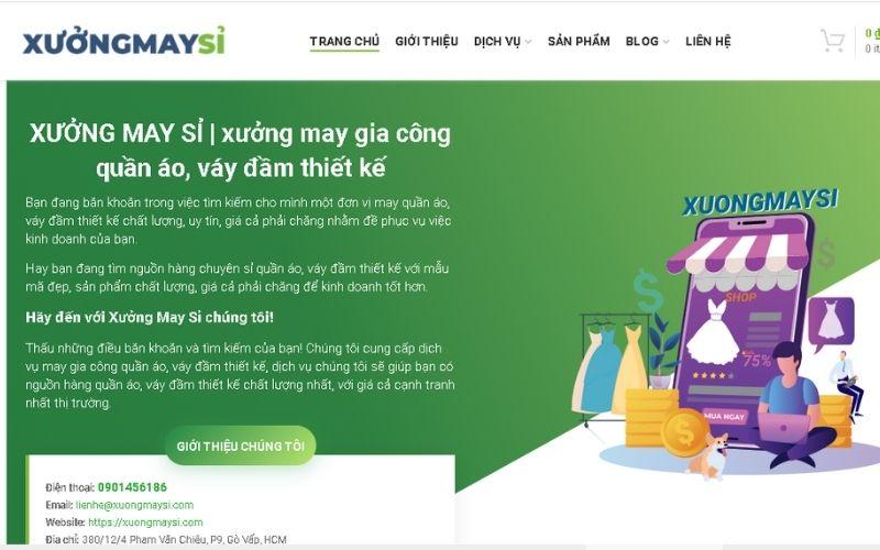 Xưởng chuyên sỉ váy đầm thiết kế Xuongmaysi.com