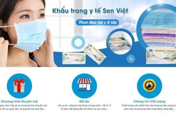 Công Ty TNHH Vật Tư Y Tế Sen Việt - Nguồn hàng khẩu trang y tế giá sỉ