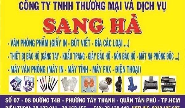 Sang Hà – Nhà Cung Cấp Văn Phòng Phẩm Giá Sỉ TPHCM